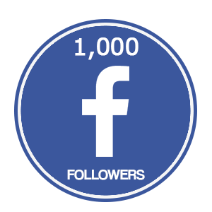 1000 facebook followers