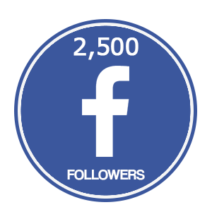 2500 facebook followers